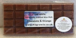 85 gram Highly Scented Wax Melt bar (CHOCOLATE & ORANGE)